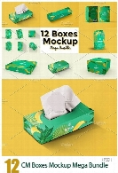 CreativeMarket 12 Boxes Mockup Mega Bundle