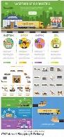 تصاویر وکتور آیکون، بنر و عناصر طراحی نمودار اینفوگرافیکی خرید اینترنتی و تحویلCM Internet Shopping And Delivery