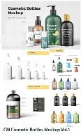 مجموعه موکاپ لایه باز بطری های لوازم آرایشی و بهداشتیCM Cosmetic Bottles Mockup Vol.1