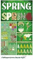 استایل، براش و سواچ ایلوستریتور با افکت های گلدار متنوعCM Flowers Vector Graphic Styles
