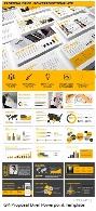 قالب آماده و حرفه ای پاورپوینت به همراه بک گراند های متنوع از گرافیک ریورGraphicriver Proposal Brief Powerpoint Template