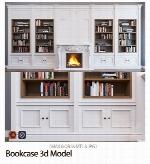 مدل آماده سه بعدی کتابخانه یا قفسه کتابBookcase 3d Model