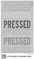 GraphicRiver Pressed And Embossed Styles