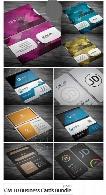 10 تصویر لایه باز کارت ویزیت با طرح و رنگ های متنوعCreativeMarket 10 Business Cards Bundle