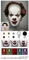 اکشن فتوشاپ تبدیل تصاویر به دلقک ترسناک برای هالووین به همراه آموزش ویدئویی از گرافیک ریورGraphicriver Clown Photoshop Action