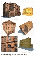 CreativeMarket Building Facade 184 Low Poly