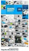 مجموعه تصاویر لایه باز و وکتور ست اداری، کارت ویزیت، بروشور، کیف دستی و ...Mega Branding Identity Pack