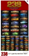 GraphicRiver 238 Super Bundle Text Effect