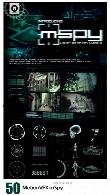 50 افکت ویدئویی HUD پیشرفته، سینمایی، ترنزیشن و ... از MotionVFXMotionVFX mSpy