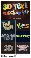 20 موکاپ لایه باز افکت سه بعدی متن متنوع3D Text Mockup Kit