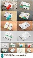 8 موکاپ لایه باز بروشور سه لتCreativeMarket Trifold Brochure Mockup
