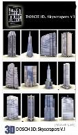 100 مدل آماده سه بعدی آسمان خراش، برج، ساختمانDOSCH 3D Skyscrapers V1