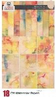 18 تکسچر کاغذ آبرنگی متنوع برای طراحیCreativeMarket Watercolor Papers
