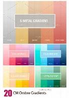 20 گرادینت فتوشاپ زرد، قرمز، سبز و آبی برای طراحیCM Ombre Gradients