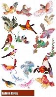 35 تصویر لایه باز پرنده های اسلیمی متنوعEslimi Birds