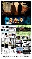 مجموعه براش فتوشاپ طراحی والپیپر، بنر، فریم، حاشیه و ... به همراه تکسچر متنیVarious Photoshop Brushes Bundle + Textures