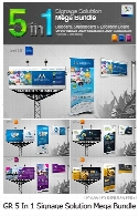 Graphicriver 5 In 1 Signage Solution Mega Bundle