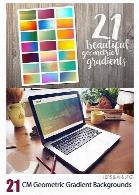 تصاویر وکتور بک گراند با گرادینت هندسیCM Geometric Gradient Backgrounds