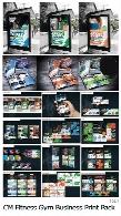مجموعه بیش از 20 تصویر لایه باز بنر، بروشور، بیلیورد، کارت ویزیت تجاری و ورزشیCM Fitness Gym Business Print Pack