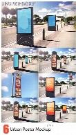 6 موکاپ لایه باز پوسترهای تبلیغاتی شهریUrban Poster Mockup