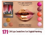 171 سواچ رنگ رژ لب برای نقاشی دیجیتال در فتوشاپCM Lips Swatches For Digital Painting