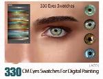 330 سواچ رنگ چشم برای نقاشی دیجیتال در فتوشاپCM Eyes Swatches For Digital Painting