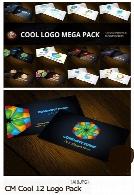 12 تصویر وکتور آرم و لوگوی متنوعCM Cool 12 Logo Pack