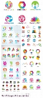 Set Of Logos And Icons Vector