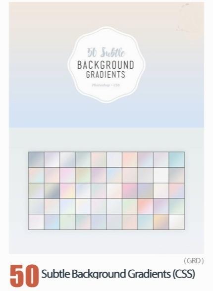 50 گرادینت فتوشاپ رنگ های سرد و ملایم برای طراحی / 50 Subtle Background Gradients (CSS)