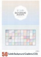 50 گرادینت فتوشاپ رنگ های سرد و ملایم برای طراحی50 Subtle Background Gradients (CSS)