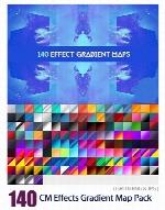 140 گرادینت فتوشاپ برای طراحیCM 140 Effects Gradient Map Pack