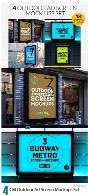 4 موکاپ لایه باز پوسترهای تبلیغاتی محیطیCM 4 Outdoor Ad Screen Mockups Set