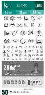 CreativeMarket 50 Islamic Line Icons