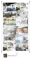 تصاویر با کیفیت طراحی داخلی خانه، دفترکار، آشپزخانه و سالن پذیراییInterior Design