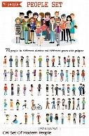 مجموعه تصاویر وکتور مردم با لباس و حالات مختلف به همراه وسیلهCM Set Of Modern People