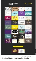 CreativeMarket Font Graphic Bundle