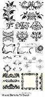 تصاویر وکتور عناصر تزئینی قدیمی، فریم، قاب و حاشیه، بت و جقهVintage Elements For Design