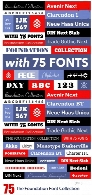 The Foundation Font Collection