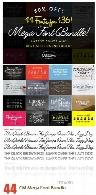 مجموعه فونت های انگلیسی متنوعCM Mega Font Bundle