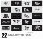 مجموعه فونت های انگلیسی متنوعGraphicriver Bundle All My Font 22 Font Family