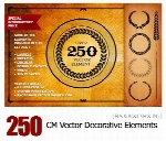 CM Over 250 Vector Decorative Elements