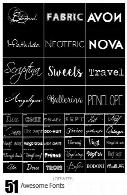 فونت های انگلیسی متنوع51 Awesome Fonts