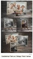 تصاویر لایه باز قاب های عکس متنوع از گرافیک ریورGraphicriver Premium Vintage Photo Frames