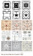 تصاویر وکتور عناصر طراحی، قاب و حاشیه های گلدار تزئینیStock Vectors Vintage Hand Sketched Doodle Design Elements