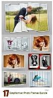 17 تصویر لایه باز قاب عکس متنوع از گرافیک ریورGraphicriver 17 Photo Frames Bundle