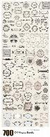 مجموعه تصاویر وکتور عناصر تزئینی قاب و حاشیه های متنوعCM 700 Vintage Bundle