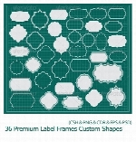 GraphicRiver 36 Premium Label Frames Custom Shapes
