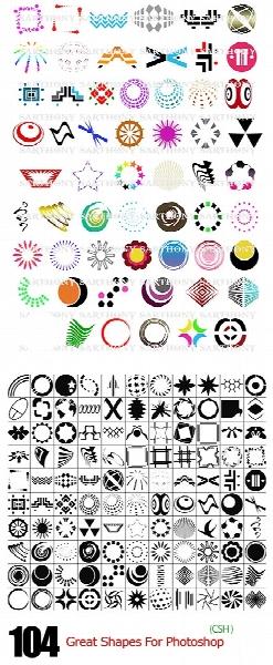 اشکال متنوع انتزاعی برای فتوشاپ / 104 Logo Shapes For Photoshop