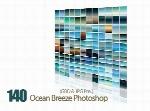 مجموعه ی زیبا از گرادینت رنگ اقیانوس برای فتوشاپ140 Ocean Breeze Photoshop Gradients