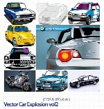 Vector Car Explosion vol2